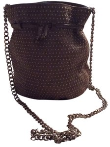 Rebecca Minkoff Leather Studs Metal Chain Strap Bucket Cross Body Bag