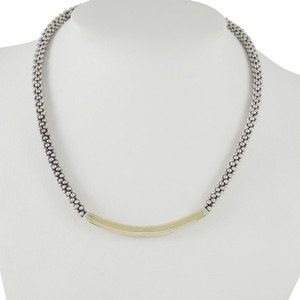 Lagos Lagos Sterling Silver 18K Caviar Signature Bold Gold Necklace