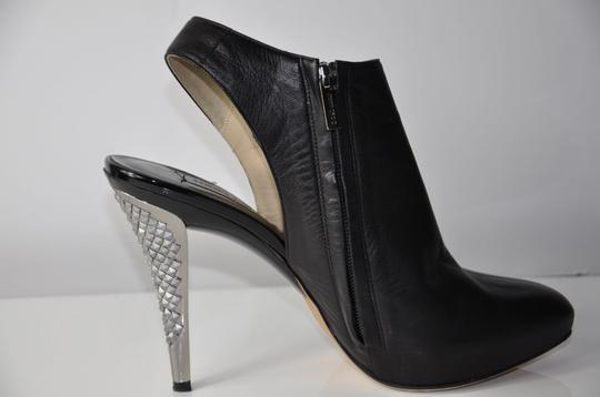 Jimmy Choo Leather Slingback Leather Blackt Boots
