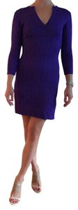 Ralph Lauren short dress purple on Tradesy