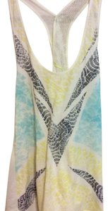 Free People Top white blue yellow