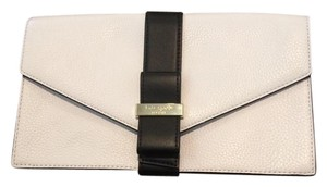 Kate Spade New Leather Bow white & black Clutch