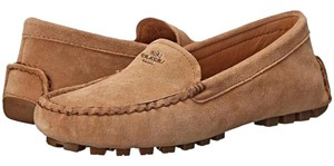 Coach Loafer Suede Brown Camel Flats
