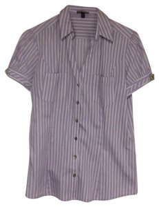 Express Button Down Shirt purple/white
