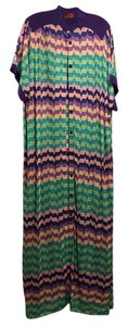 Purple, turquoise, pink Maxi Dress by Missoni