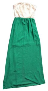 Green and white Maxi Dress by Macy's