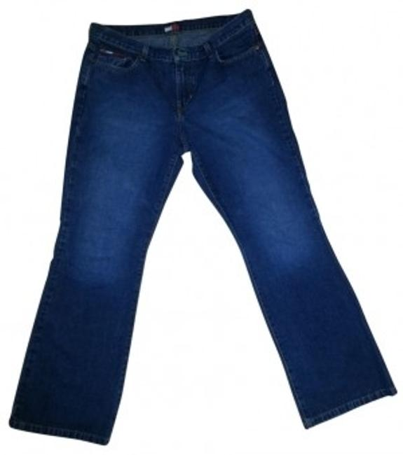Preload https://img-static.tradesy.com/item/20870/tommy-hilfiger-navy-dark-rinse-in-blue-boot-cut-jeans-size-34-12-l-0-0-650-650.jpg