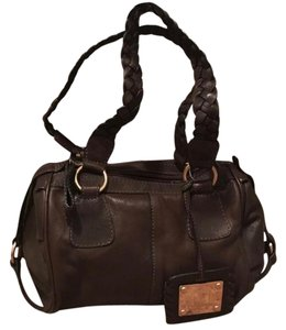 Missoni Satchel in Brown leather and gold hardware