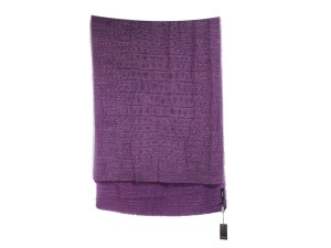 Saint Laurent Purple Cashmere Crocodile Scarf