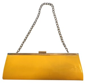 Other Chain Vintage Vinly Taxi cab yellow Clutch