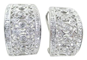 Other 14KT WHITE GOLD EARRINGS FINE JEWELRY 66 DIAMOND .75 CARAT 9.02 GRAMS