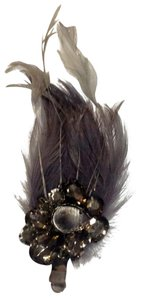 Other beaded feather hair clip