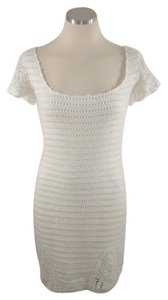 Moda International short dress white Crochet Spring Cotton on Tradesy