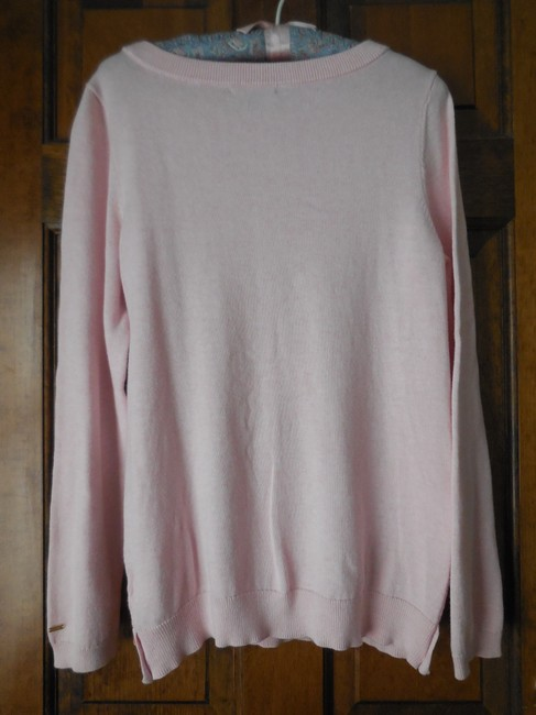 Tommy Hilfiger Logo Cotton Cable Pattern Banded Sweater Image 4