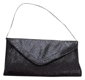 Betsey Johnson Sparkly Tasseled Convertible Black Clutch