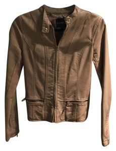 Express fawn Leather Jacket