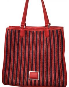 Marc by Marc Jacobs Roomy Striped Tote in red