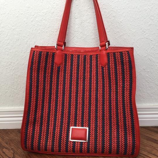 Marc by Marc Jacobs Roomy Striped Tote in red Image 1