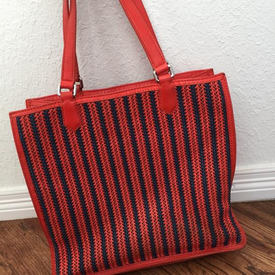 Marc by Marc Jacobs Roomy Striped Tote in red Image 5