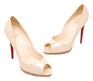 Christian Louboutin Louboutin Open Toe Stacked Heel Stiletto Easter Nude Pumps