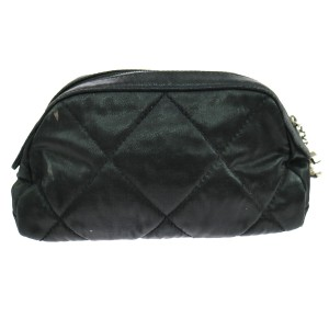 Chanel Chanel Black Quilted Cosmetic Jewelry Pouch
