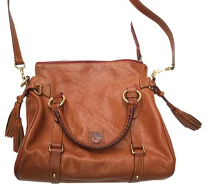 Dooney & Bourke Leather Gold Hardware Cross Body Bag