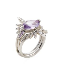 Alexis Bittar Diamond & Amethyst Pave Convertible Ring Set