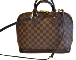 Louis Vuitton Damier Ebene Alma Satchel in Brown