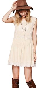 Free People short dress cream on Tradesy
