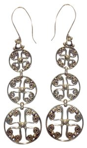 Other 3 tier cross circle earrings