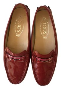 Tod's Red patent Flats