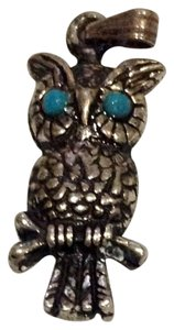 Other sterling turquoise owl charm