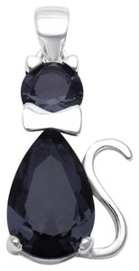9.2.5 Adorable 925 black onyx cat pendant