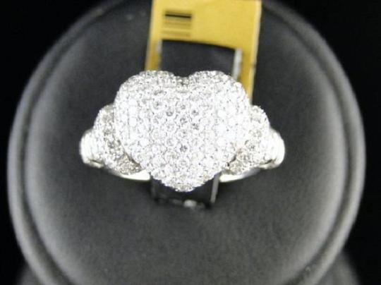 Other 10K Ladies Vs Diamond Promise Love Heart Ring 1.60 Ct Image 5