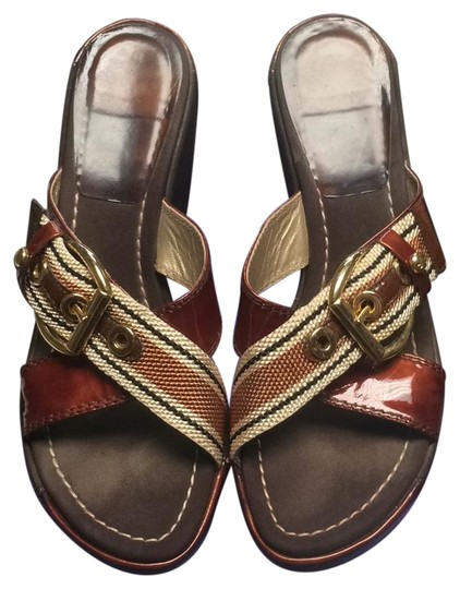 Preload https://img-static.tradesy.com/item/20870882/stuart-weitzman-rum-canvas-buckle-high-wedges-size-us-65-regular-m-b-0-3-540-540.jpg