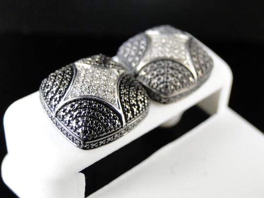 Other New Ladies/Mens Domed Star Diamond 12 Mm Stud Earrings Image 2