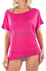 Just Cavalli Cover-up Shirt Fancy Off T Shirt PInk