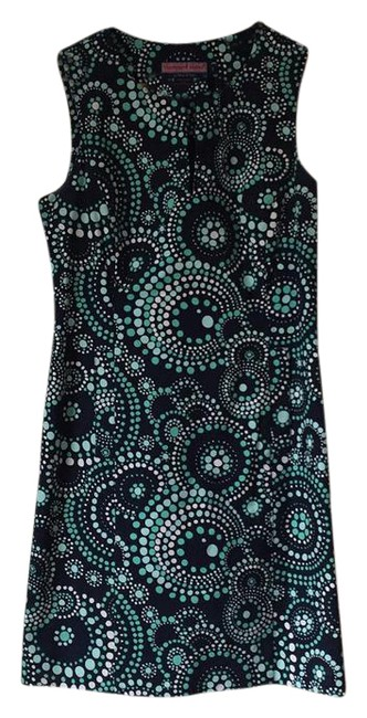 Item - Navy Blue Aqua Green and White Short Casual Dress Size 2 (XS)