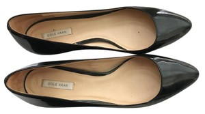 Cole Haan Patent Leather Black Wedges