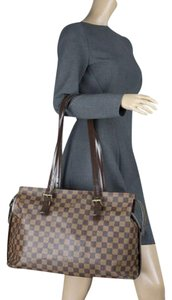 Louis Vuitton Lv Damier Azur Neverfull Shoulder Bag