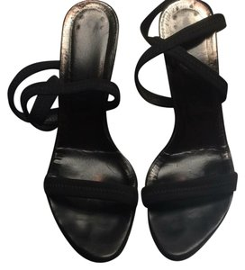 Donald J. Pliner Black Crepe Sandals