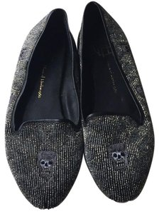 House of Harlow 1960 Black with gray beading Flats