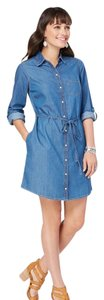 Charming Charlie short dress blue on Tradesy