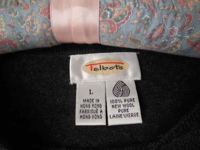 Talbots Wool Embroidered Short Sleeves Rounded Neckline Dry Clean Sweater Image 4