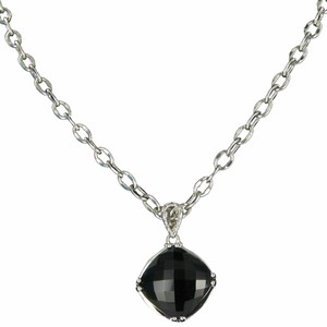 Tacori 18k925 Classic Rock Cushion Cut Gem Necklace Black Onyx Sterling 925