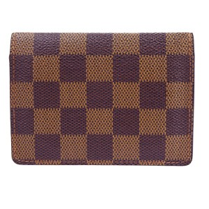 Louis Vuitton Id Damier Ebene Pass case bifold Card holder