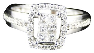 Other 14K White Gold Princess Cut Diamond Engagement Wedding Ring 1/2 Ct