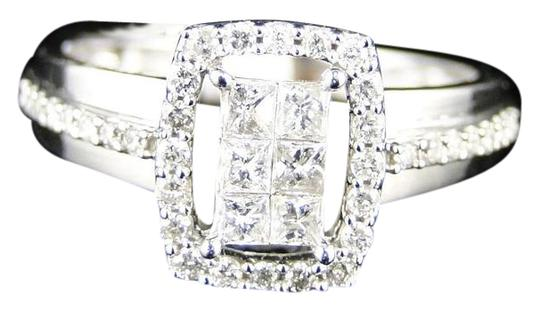 Other 14K White Gold Princess Cut Diamond Engagement Wedding Ring 1/2 Ct Image 0