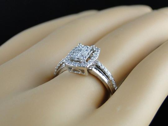 Other 14K White Gold Princess Cut Diamond Engagement Wedding Ring 1/2 Ct Image 1