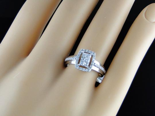 Other 14K White Gold Princess Cut Diamond Engagement Wedding Ring 1/2 Ct Image 2